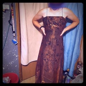 Copper colored formal